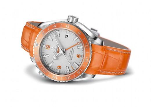 Omega Seamaster Planet Ocean Orange Ceramic in platinum (4)