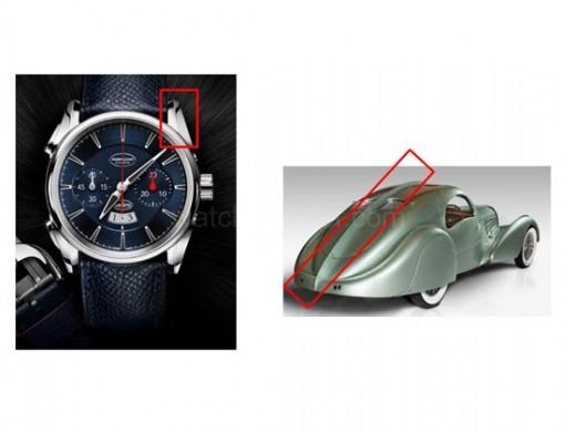 PARMIGIANI-Bugatti-Aérolithe_Epine-dorsale-montre-versus-voiture